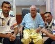 מימין: חובש בכיר במדא שי קדוש, אריה אקרמן ופראמדיק מדא גאורגי ישייביץ'